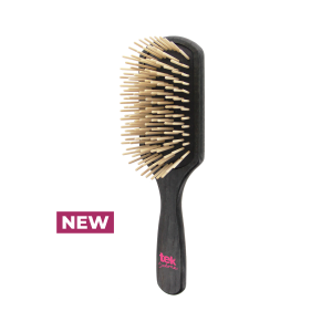 Paddle brush with long pins black color