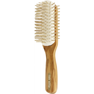 Big removable half-rounded brush in olive wood