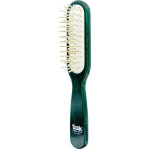 Rectangular brush - green lacquered