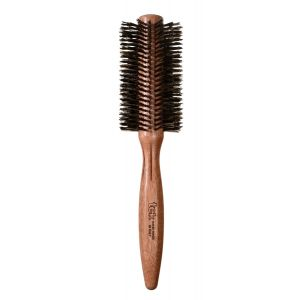 "Roll mahogany wood brush with reinforced wild boar bristles, diam. 2,36"" (60mm)"