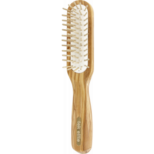 Rectangular brush olive wood
